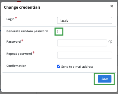 Generating new password