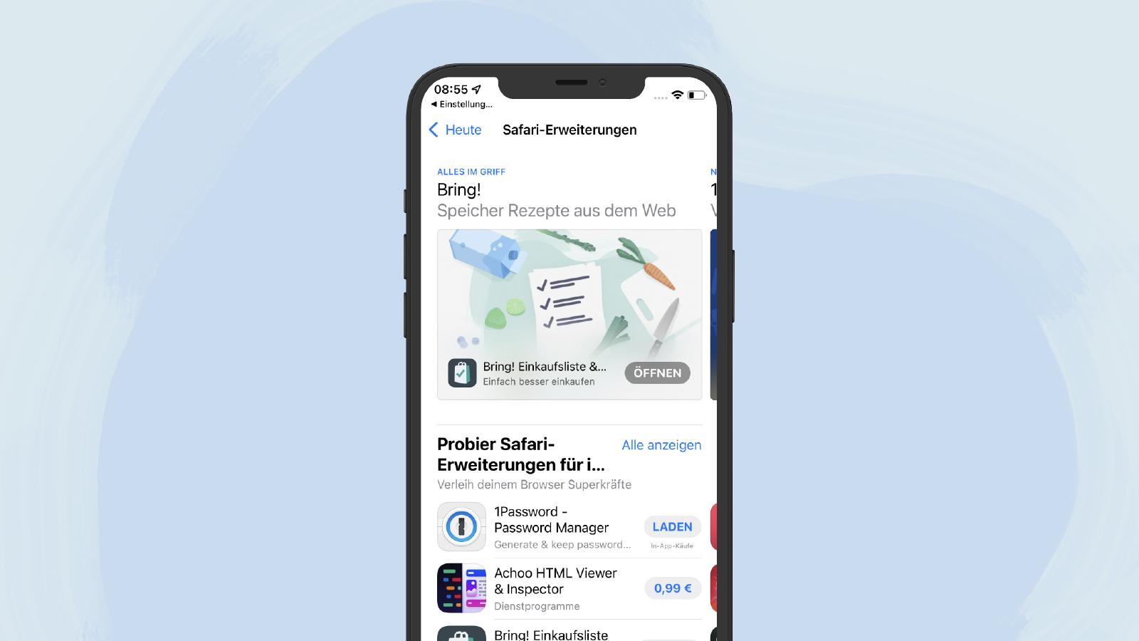 Die Erweiterungen im App Store
