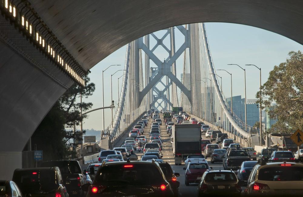 Car congestion on the Bay Bridge
