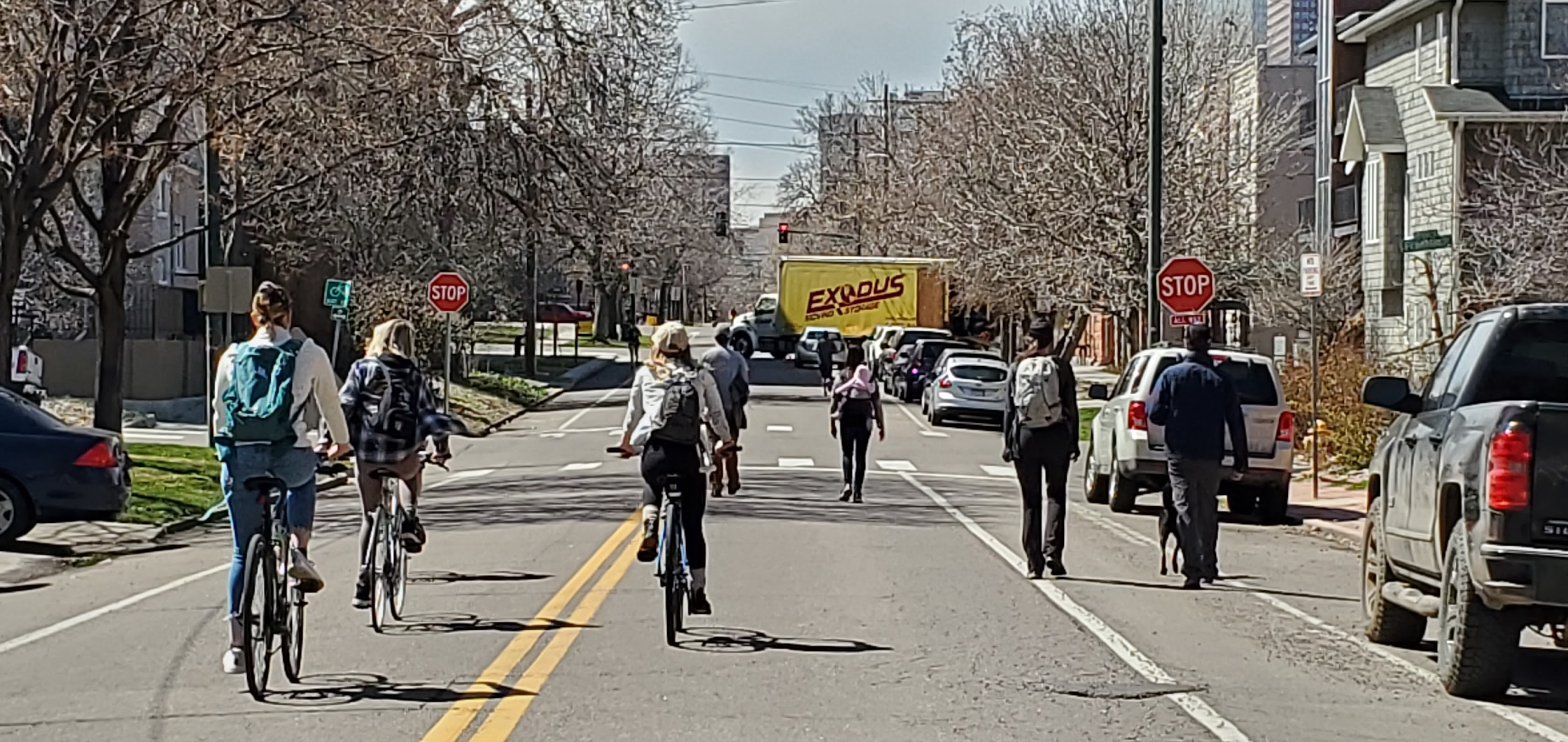 Denver bikers take over shared streets