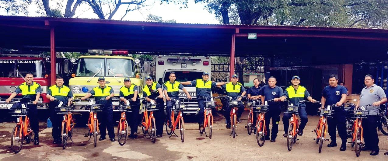 Nicaraguan Firefighters on Spin bikes