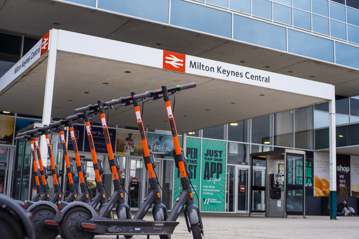 Spin scooters at Milton Keynes Central