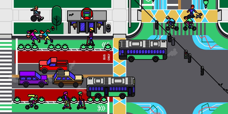 Spin Streets Illustration