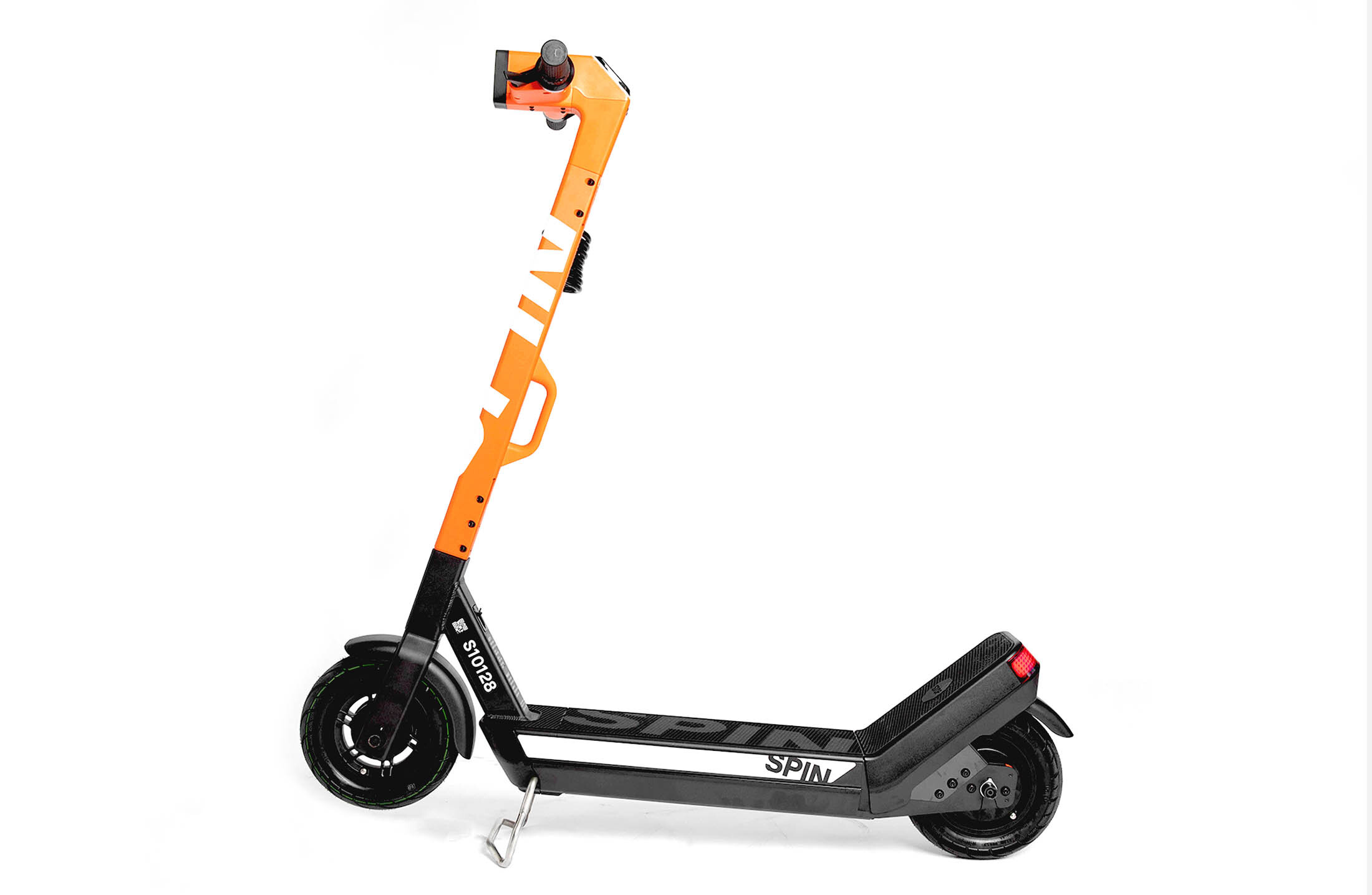 Spin scooter displayed against a white background.
