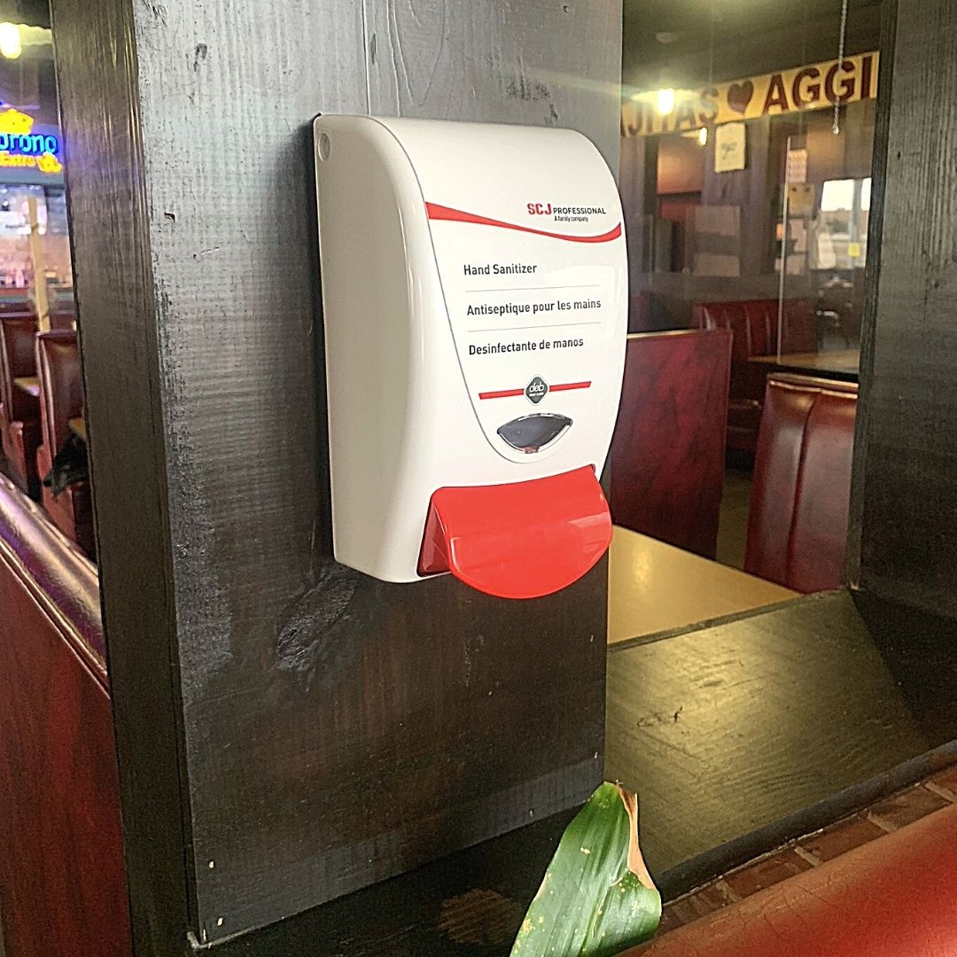 Masfajitas-College Station Tex-Mex and Mexican Restaurant Sanitization Stations