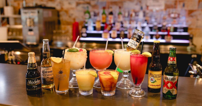 Masfajitas Tex-Mex and Mexican Restaurant Margaritas, Beers, Long Island Teas, Pain Killers, and Drinks.