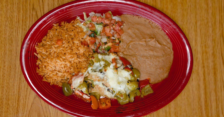Masfajitas Tex-Mex and Mexican Restaurant Monterrey Chicken Lunch