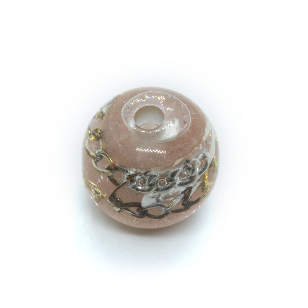 Resin Chain Bead - Round - 15mm