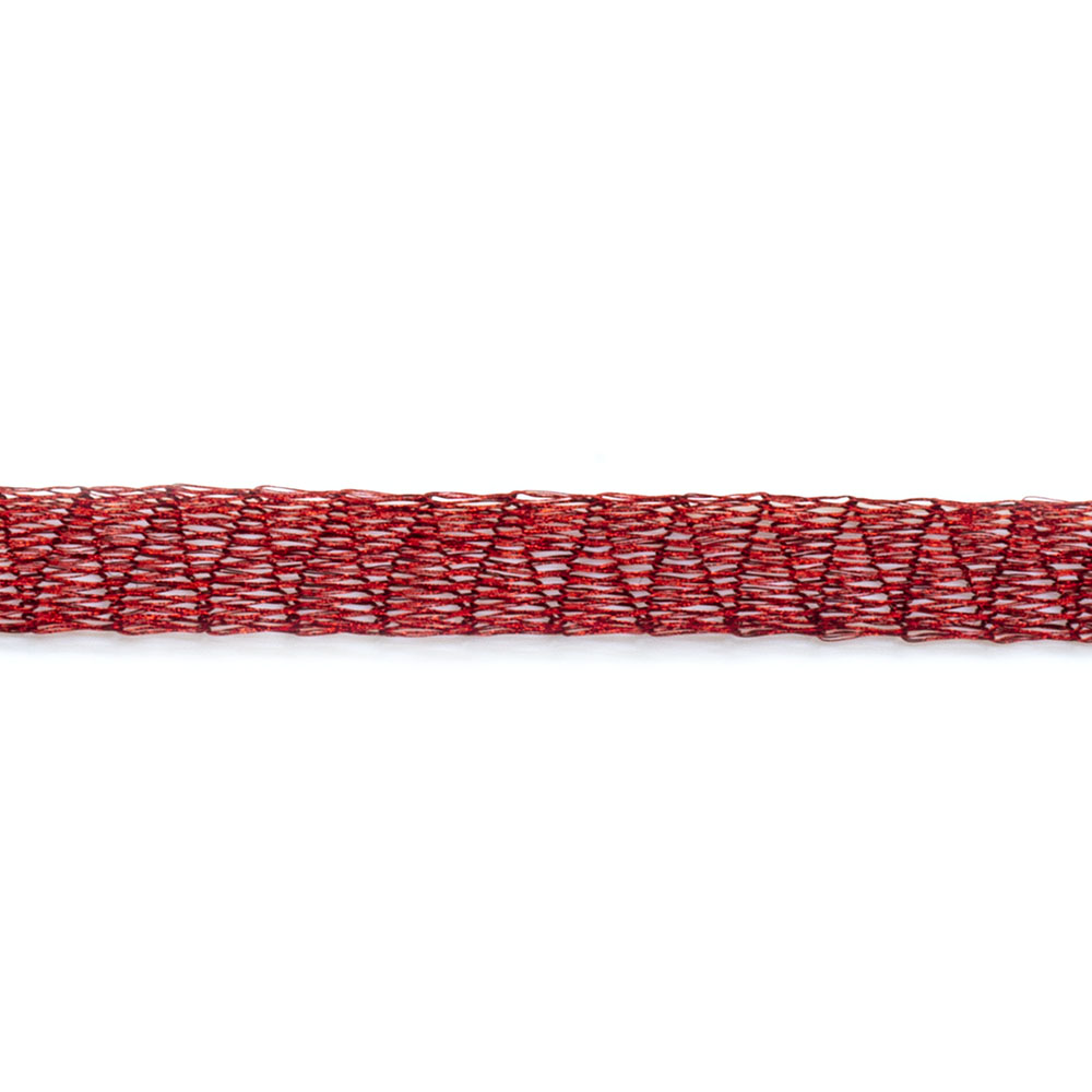 Tubular Mesh Ribbon - 6mm wide - 30cm length