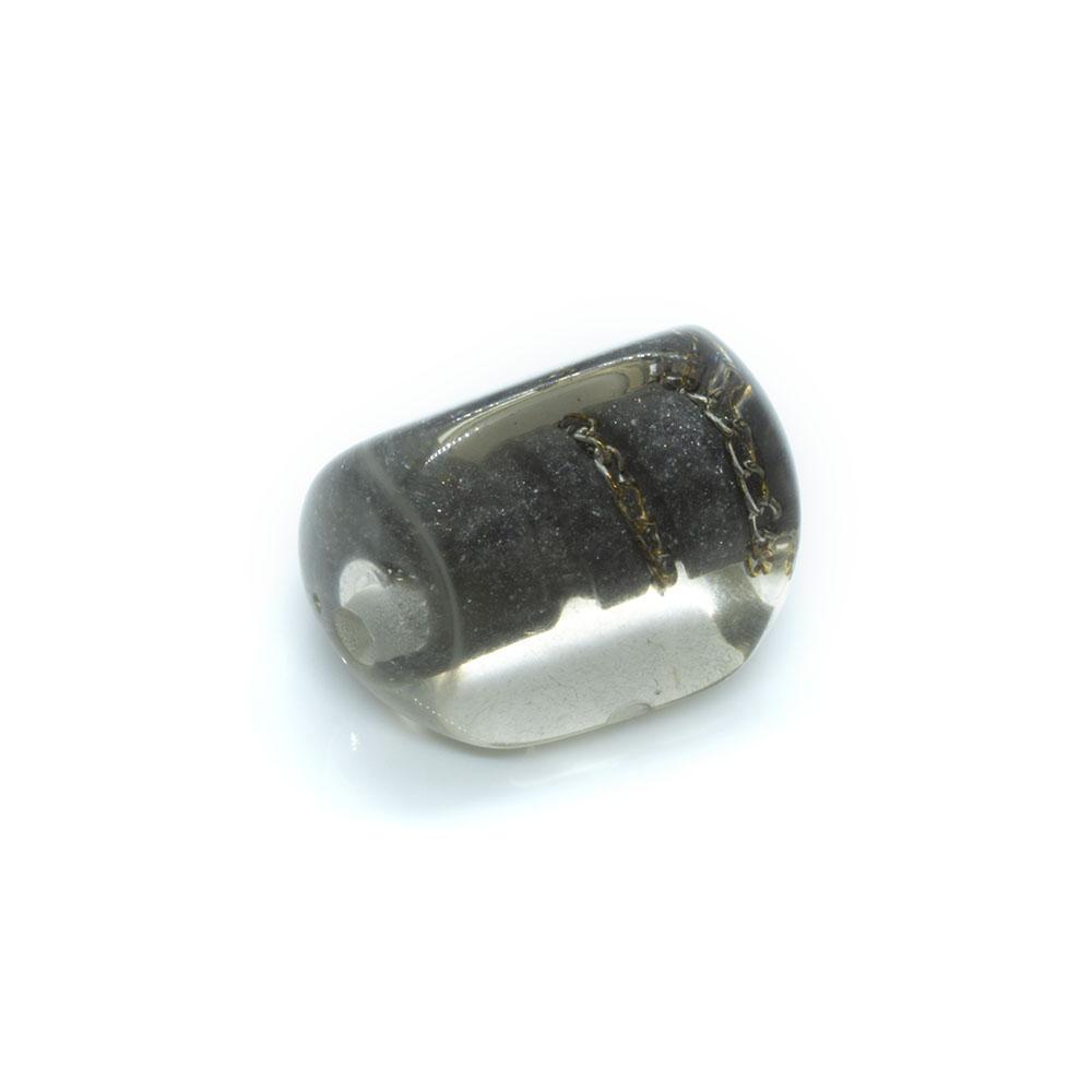 Resin Chain Bead - Triangle - 27 x 18mm