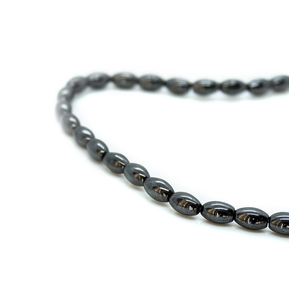 Magnetic Hematite Rice Beads - 4x6mm