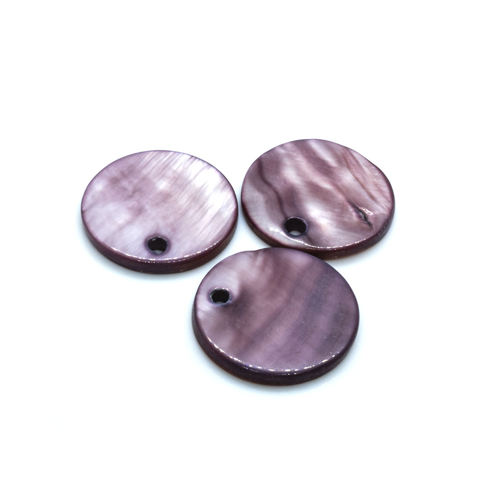 Shell Pendants (Drops) Round - 15mm - 20pc