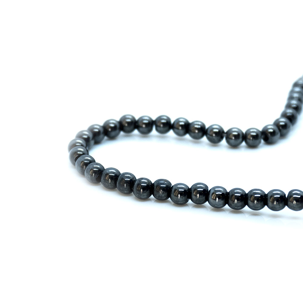 Magnetic Hematite Round Beads - 4mm