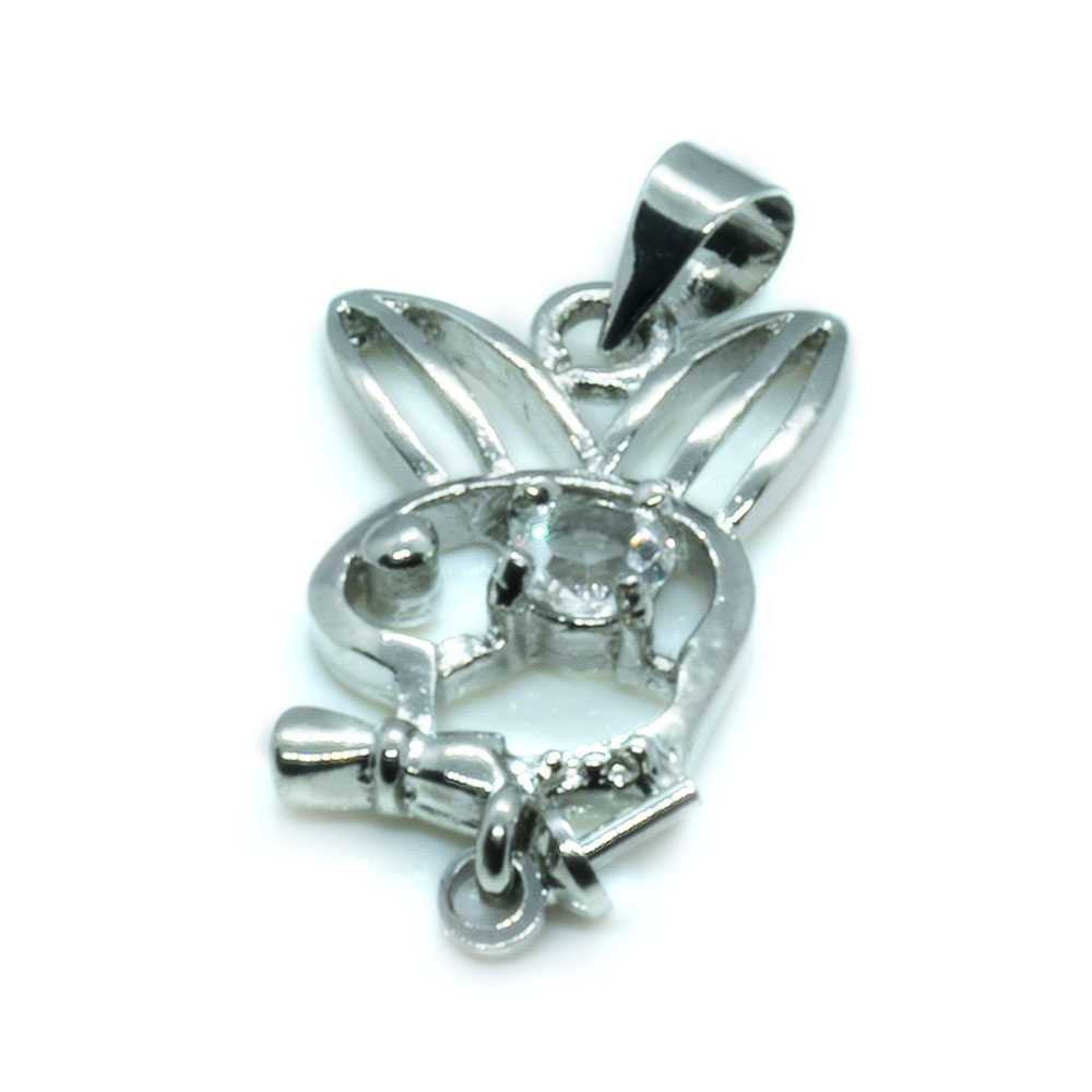 Playboy Bunny Pendant - 13.5x30mm