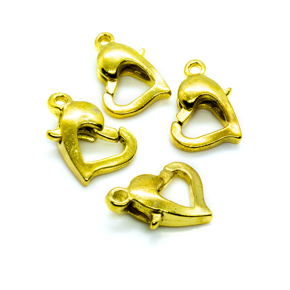 Heart Clasp - 12mm - 5pc
