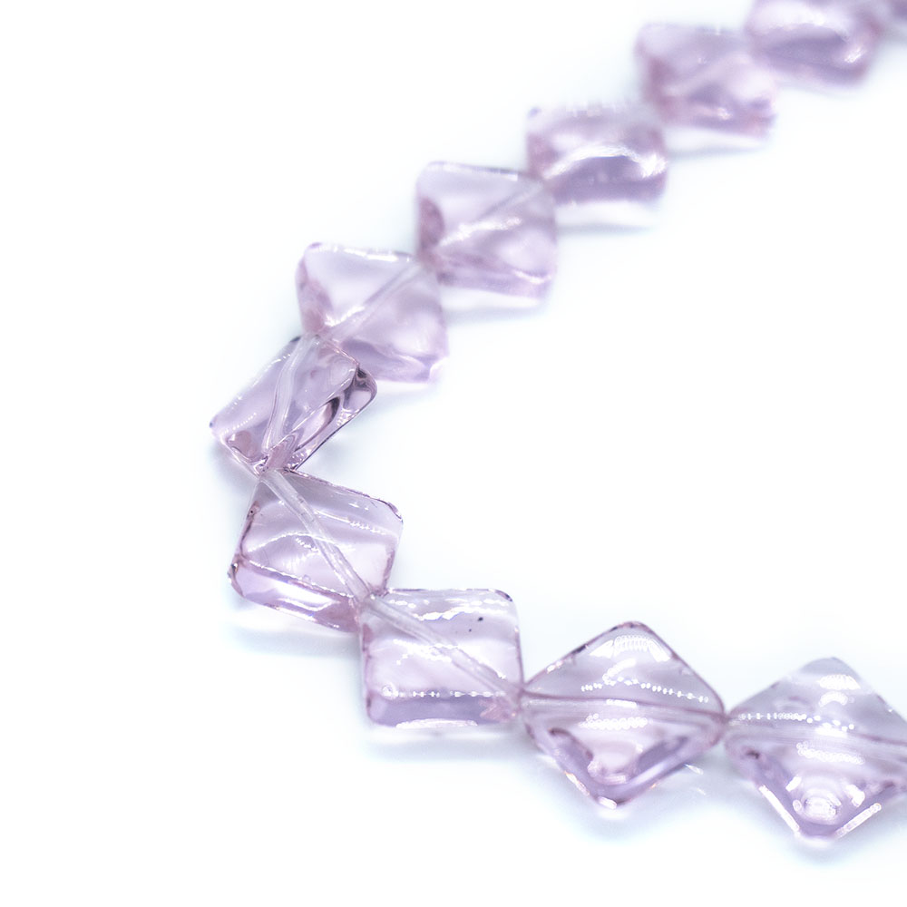 Rhombus Crystal Glass - 12mm - 33cm strand