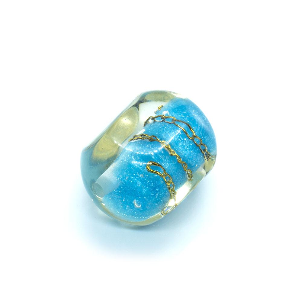 Resin Chain Bead - Hexagon - 27x20mm
