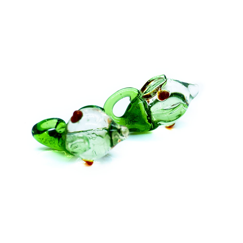 Green Fish Lampwork Bead - 20x10mm