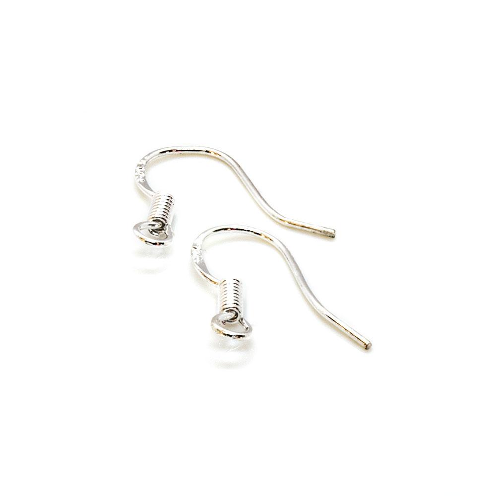 Earhooks Twist with Flat Back - 15mm - 1pr