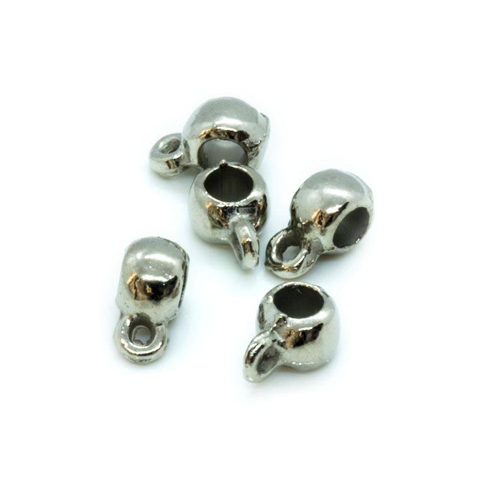 Tibetan Silver Pendant Holder - 9x4.5mm - 10pc