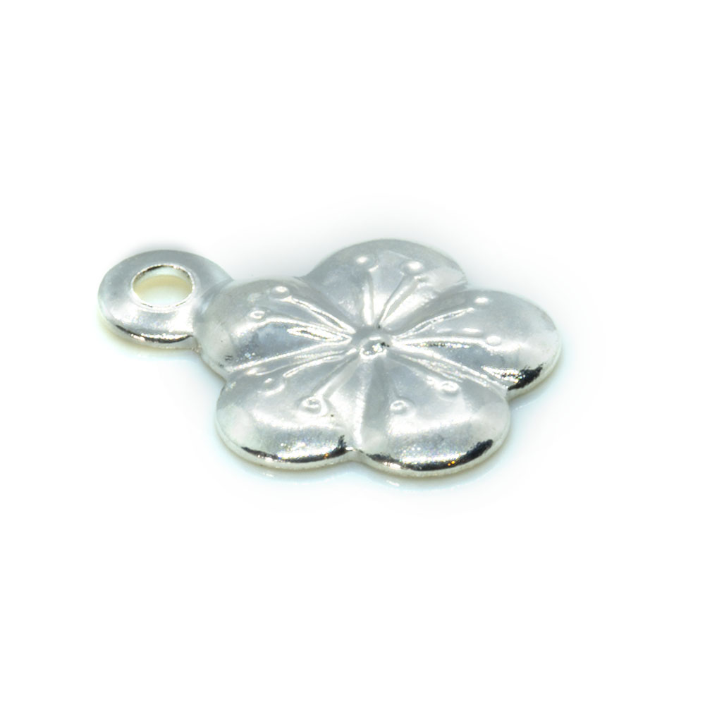 Charm - Stamped Flower - 7.5x7mm