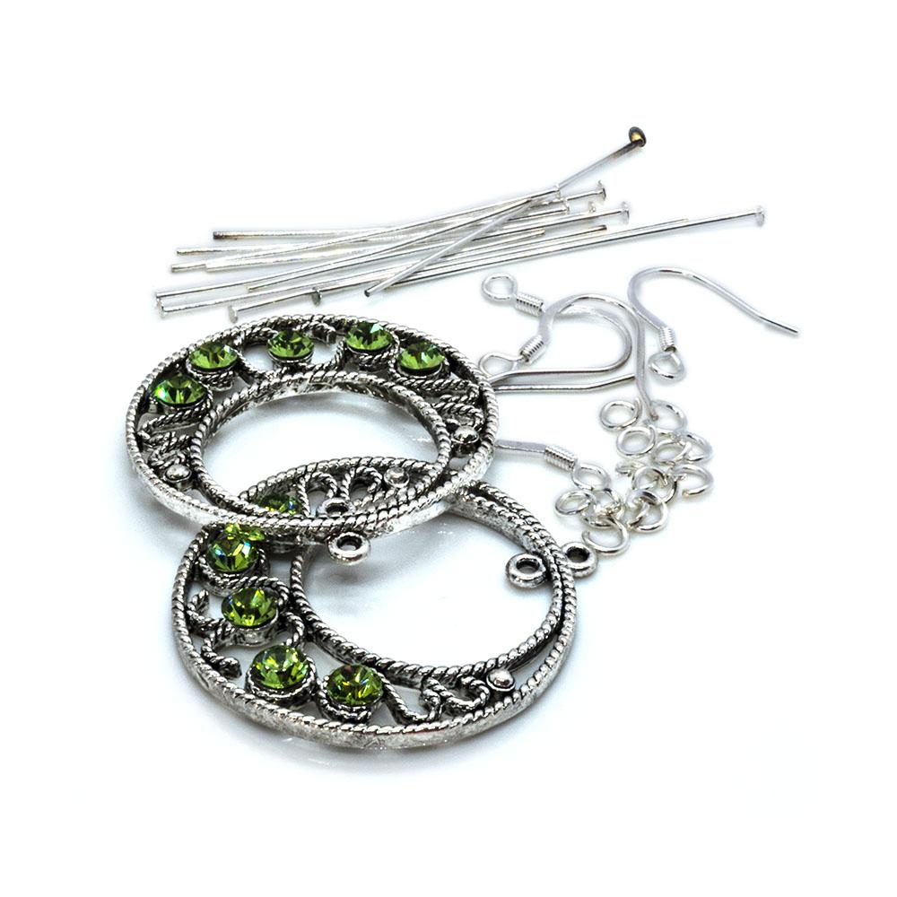 Crystal Innovations - Swarovski Earring Kit - Peridot Round GoGo