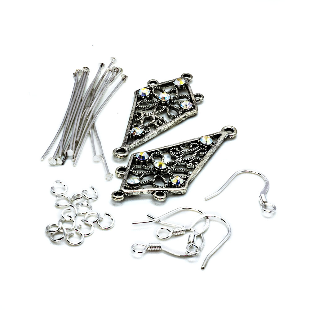 Crystal Innovations - Swarovski Earring Kit - Crystal AB Kite