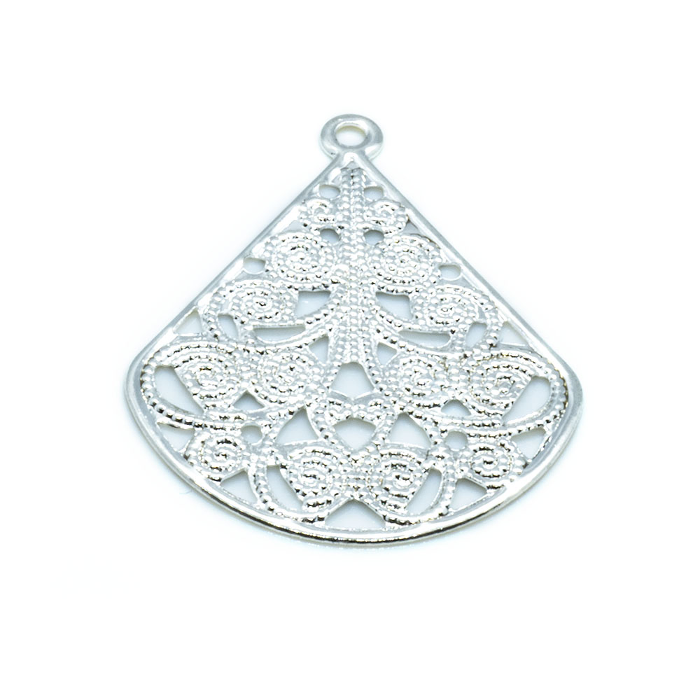 Drop - Teardrop Filigree - 29x23mm - 1pc