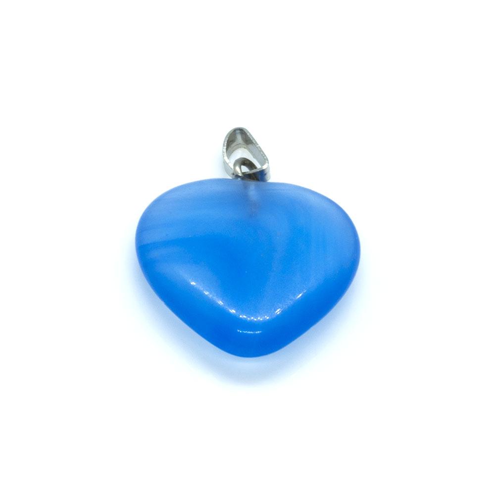 Gemstone Heart Pendant - Blue