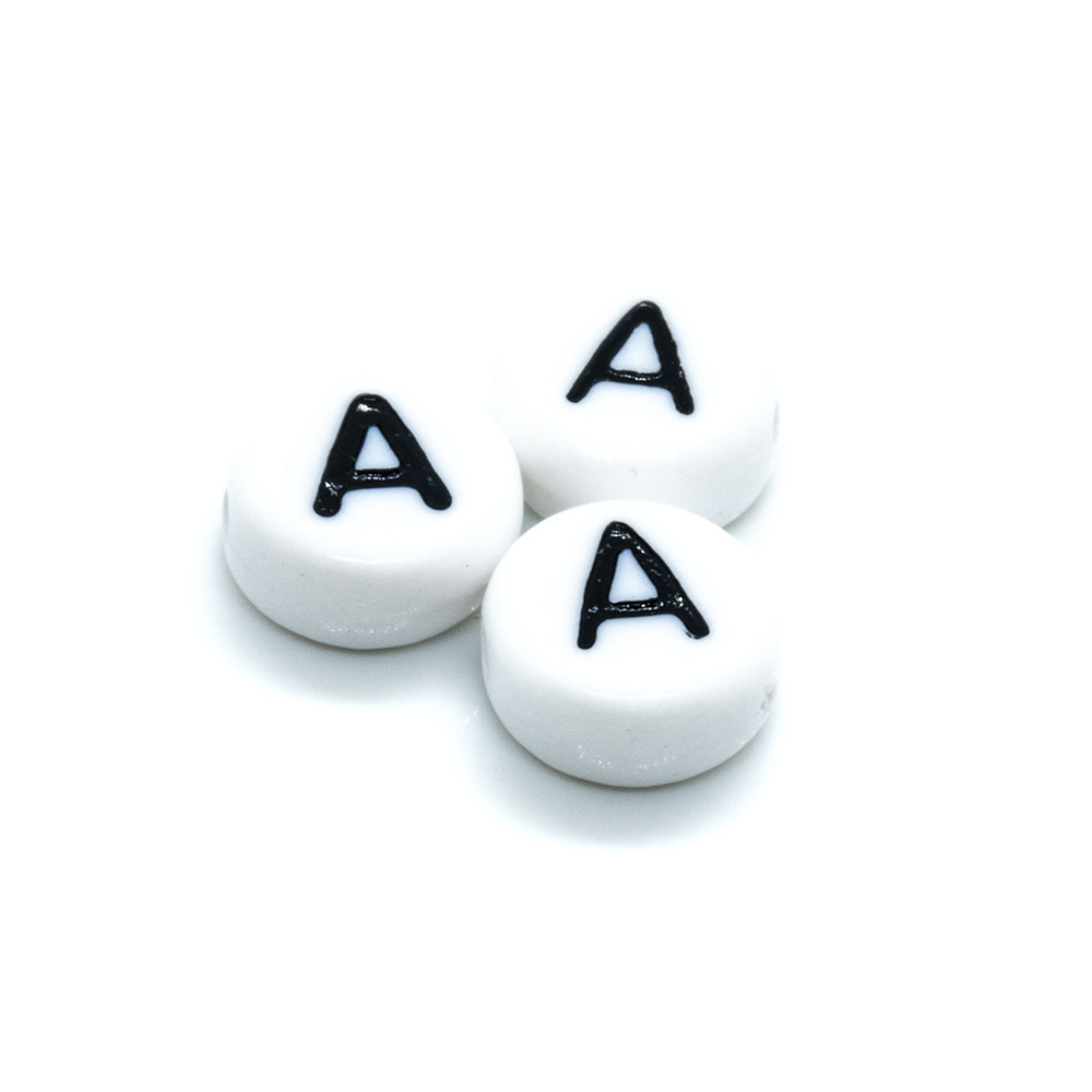Acrylic Alphabet and Number Beads - 7mm