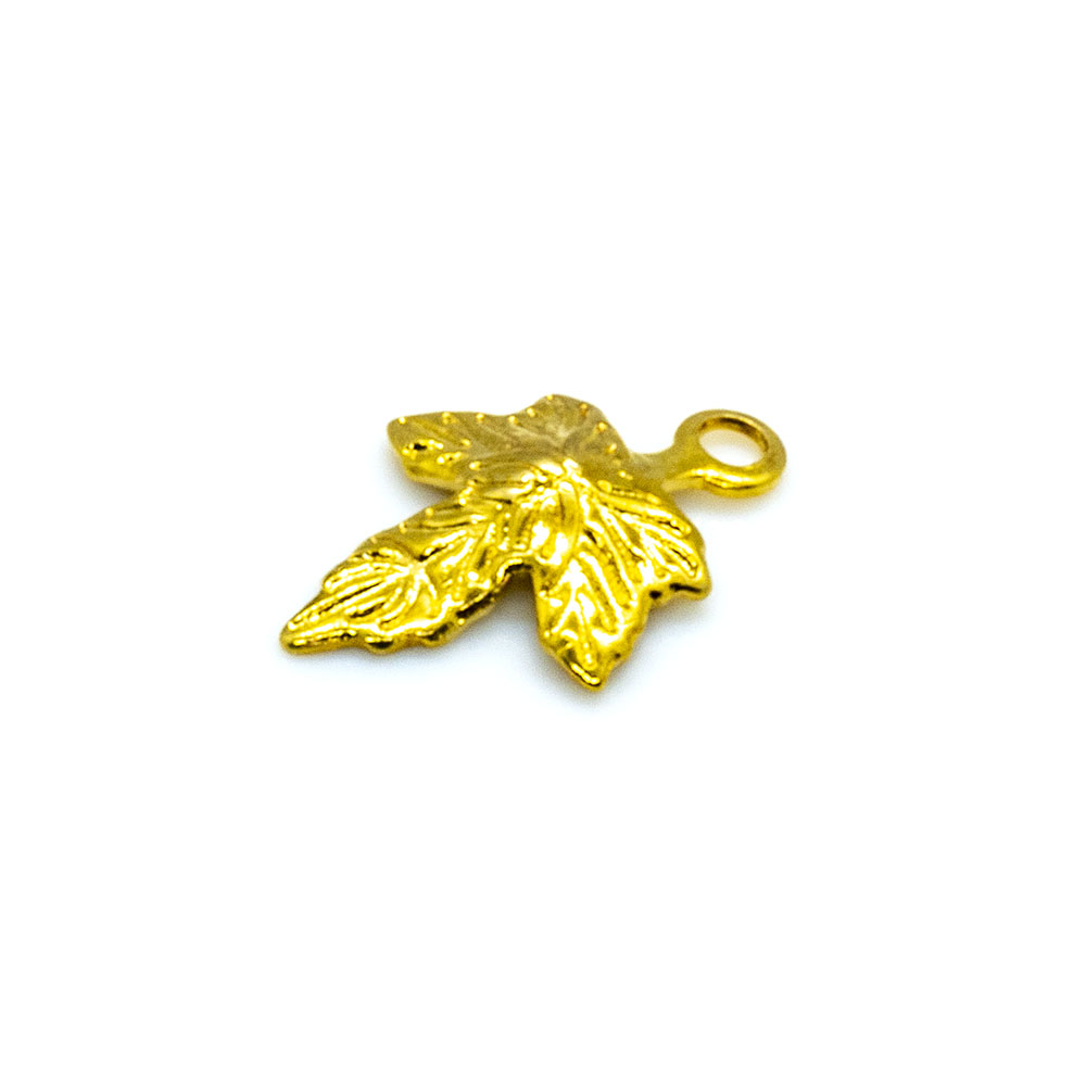 Charm - Maple Leaf - 10x7mm