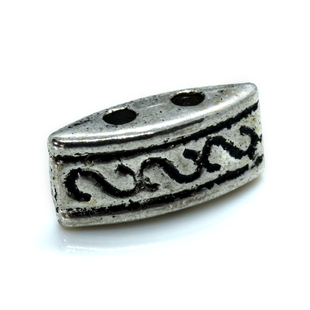 Two Hole Spacer Bead -10x4.5x4mm