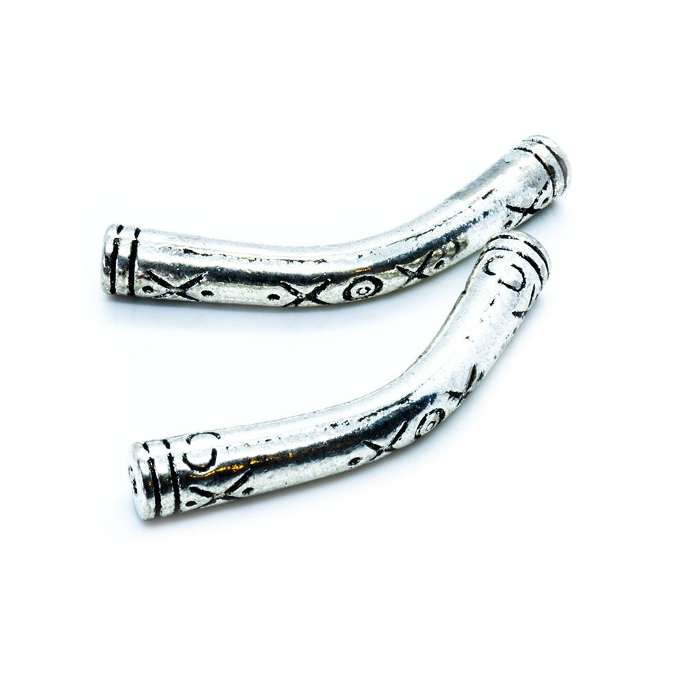 Tibetan Silver Curved Tube