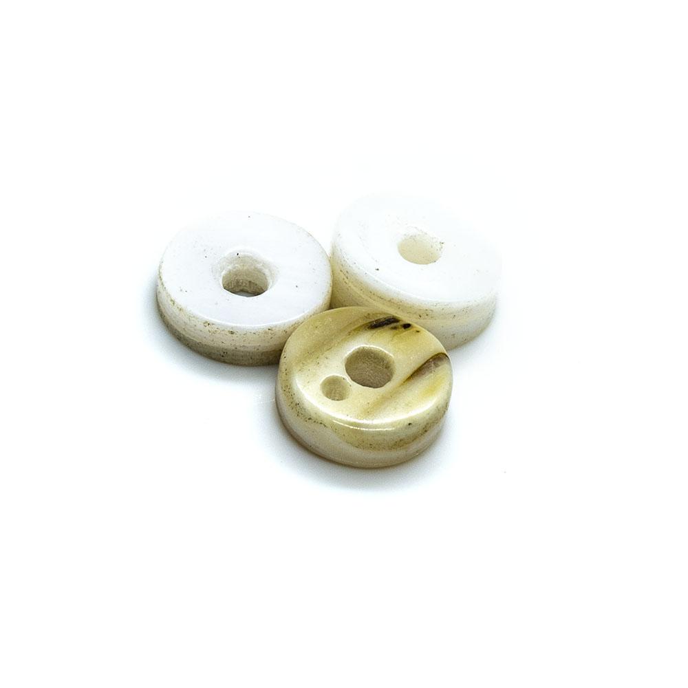 Trochus Pearl Donut - 8mm - 24pc