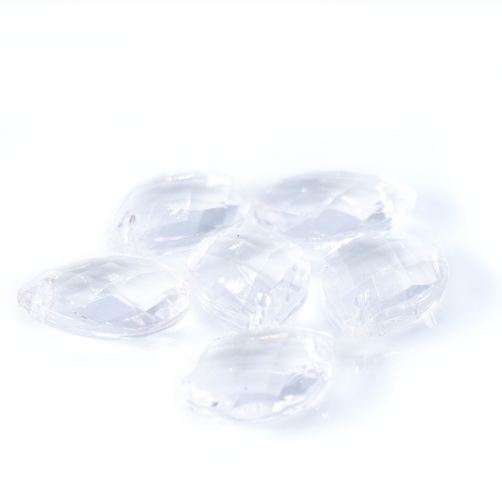 Acrylic Faceted Teardrops - 18x13mm - 5pc