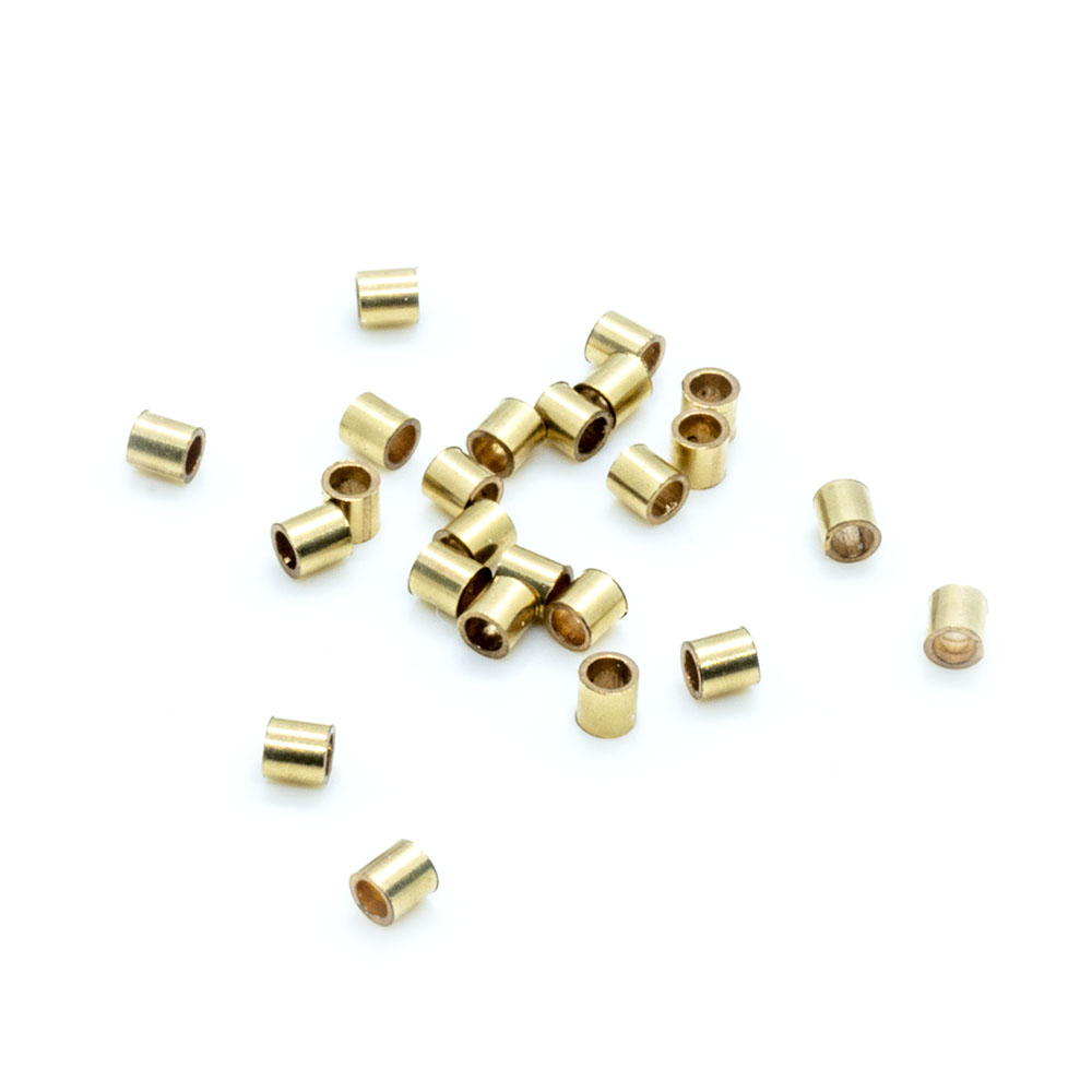 14k Gold Filled Crimp Beads - 2x2mm - 10pc