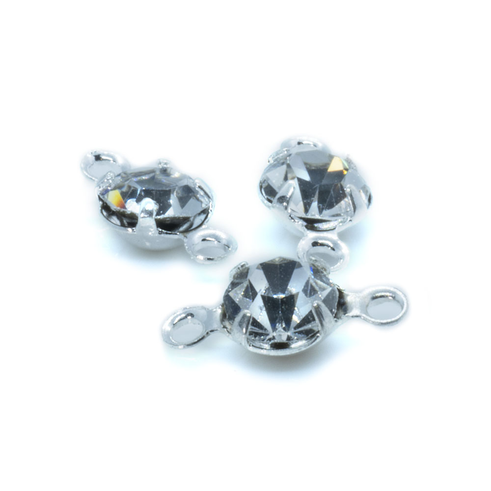 Rhinestone Crystal Link - 10x4.5mm