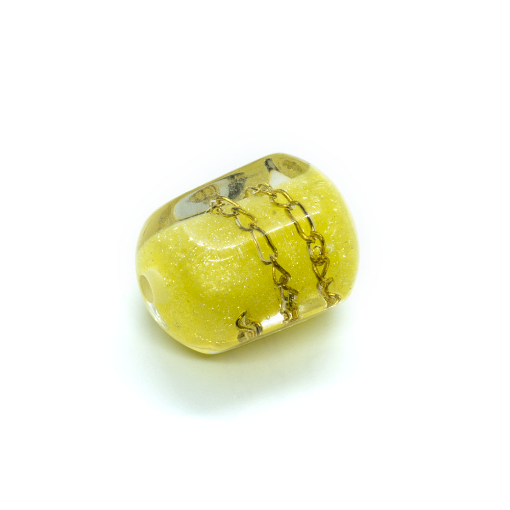 Resin Chain Bead - Hexagon - 18x14mm