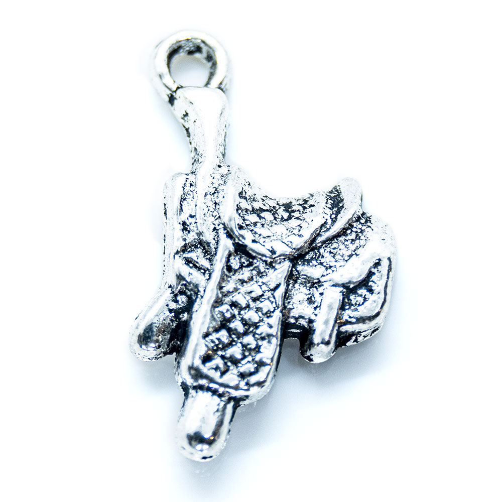 Saddle Charm - 22x14mm - 1pc