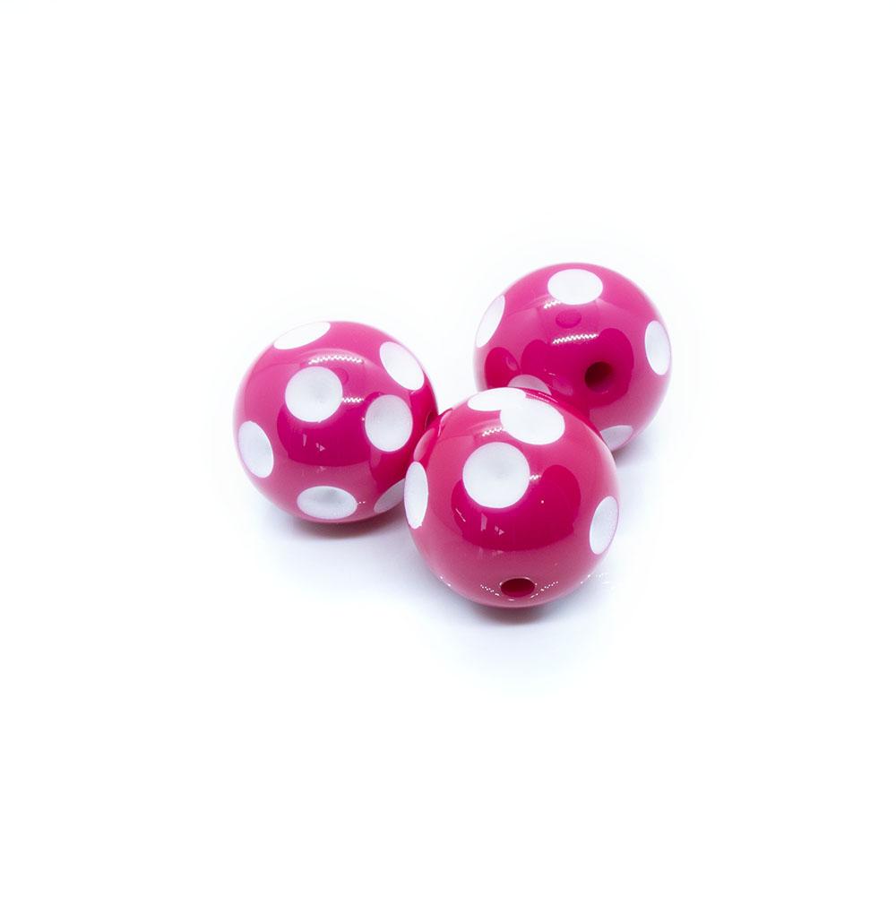 Bubblegum Acrylic Polka Dot Beads - 20mm
