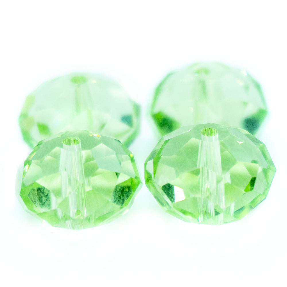 Glass Crystal Faceted Rondelle - 12x10mm - 1pc