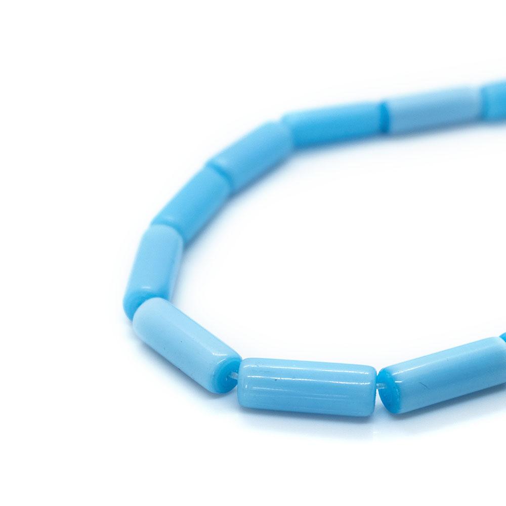 Glass Tube - 14mm - 38cm strand