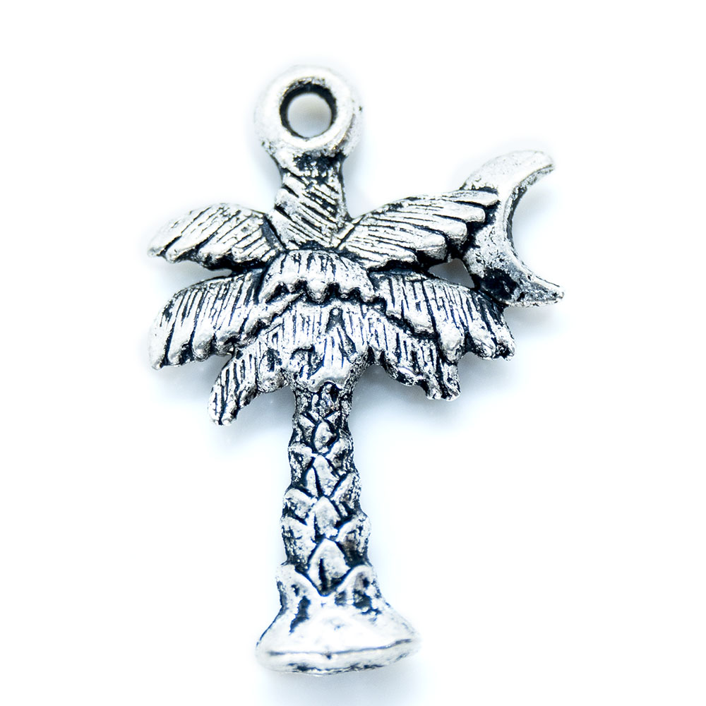 Palm Tree Charm - 22x14mm - 1pc