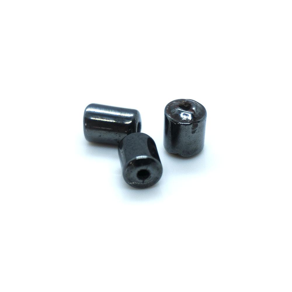Hematite Tube Beads - 6mm - 10pc