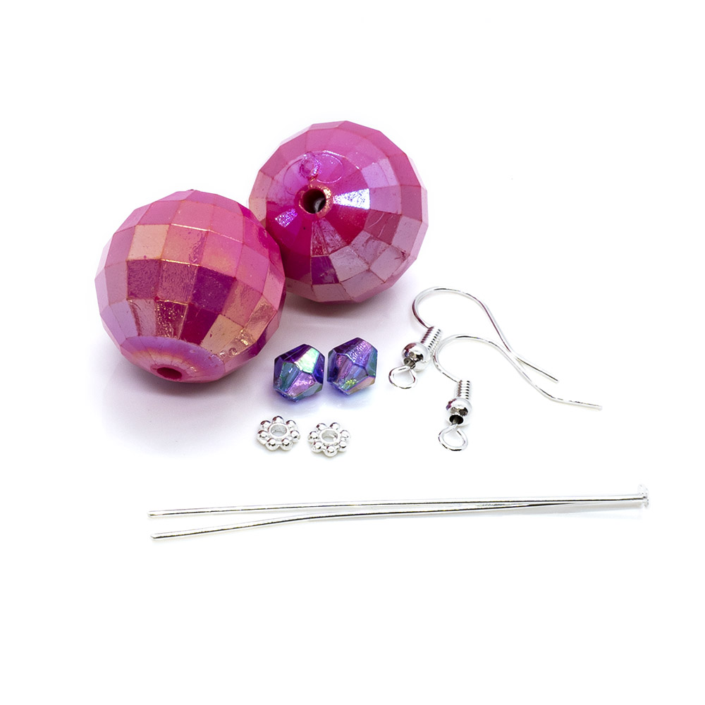 Disco Ball Earrings Kit