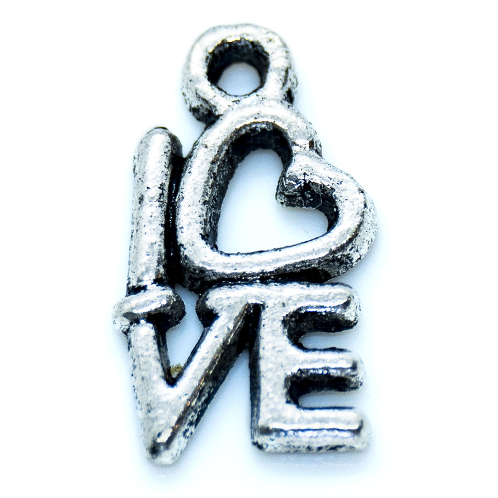Love Charm - 19x8mm - 1pc