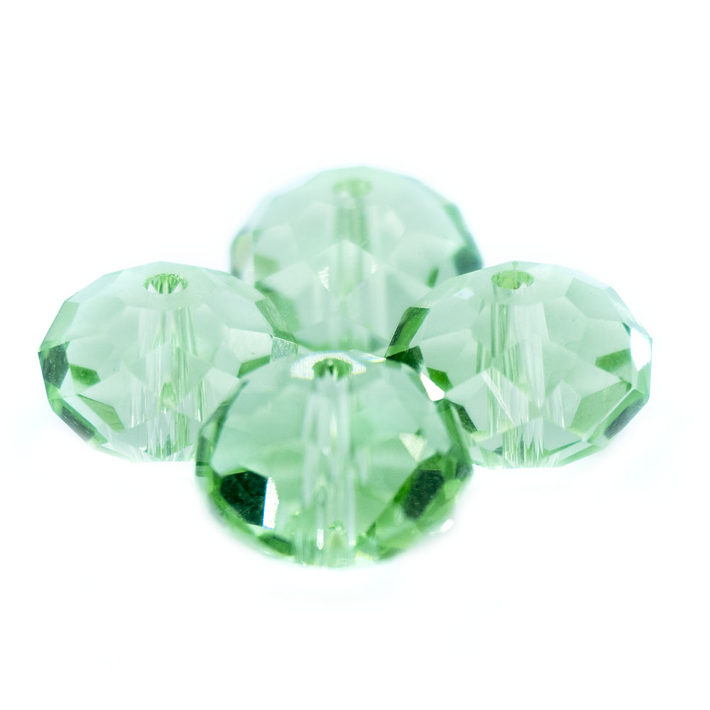 Glass Crystal Faceted Rondelle - 10x8mm - 1pc