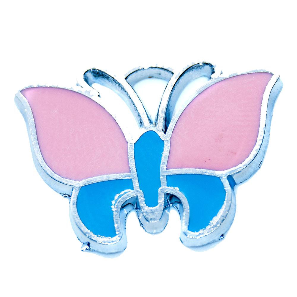Enamel Butterfly Charm - 24x18mm - 1pc