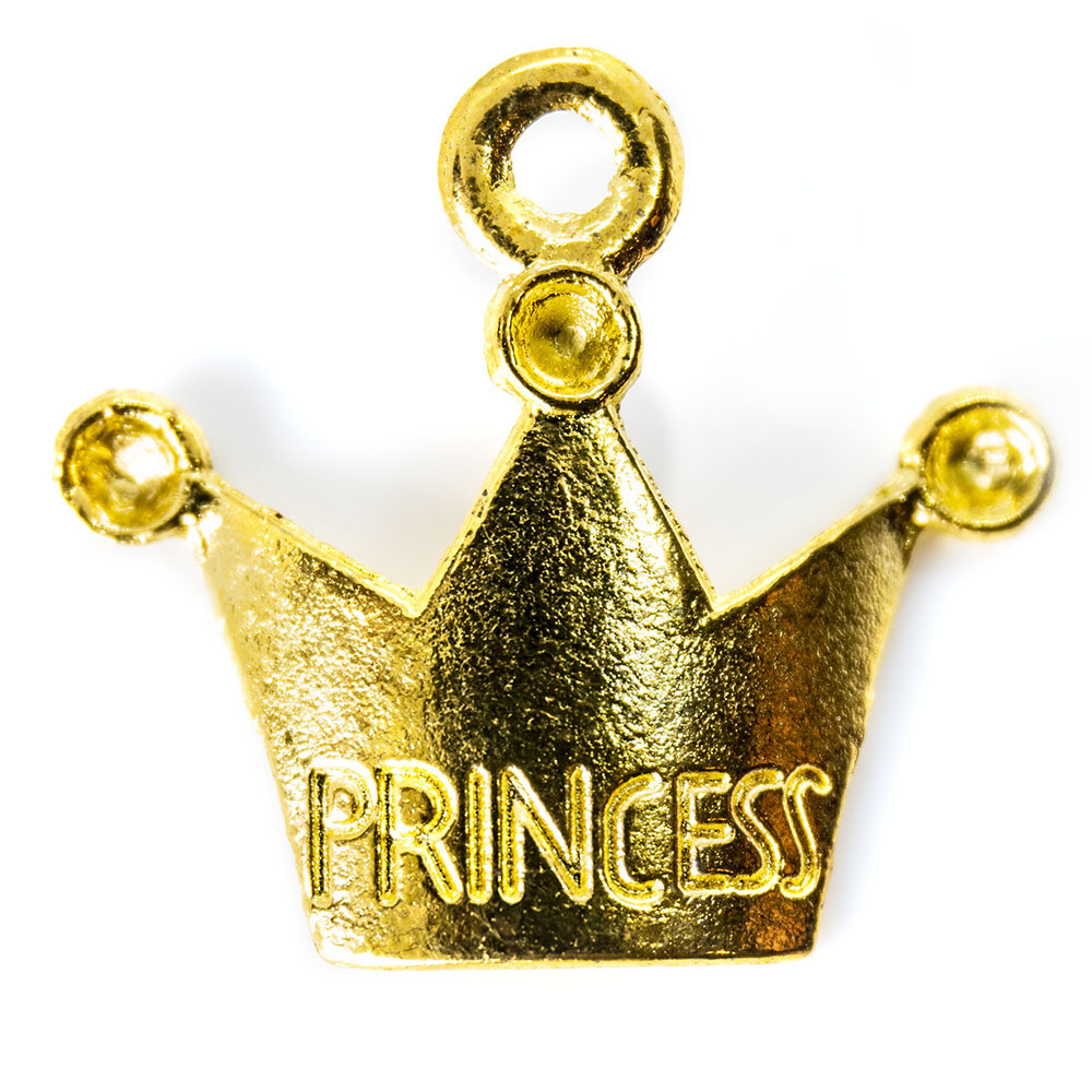 Princess Crown Charm - 18x13mm - 1pc