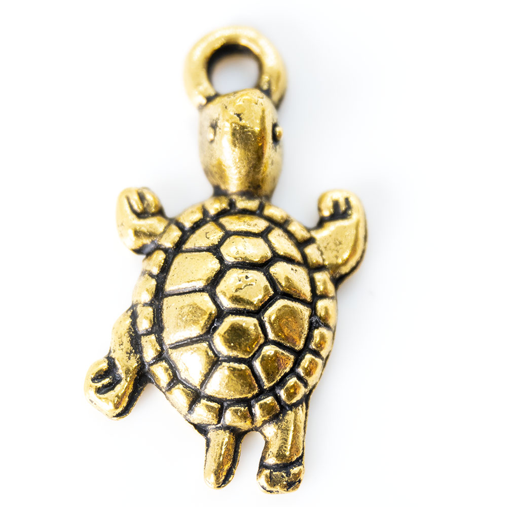 Turtle Charm - 24x12mm - 1pc